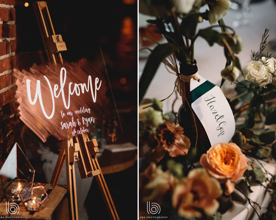Rustic wedding inspiration collage